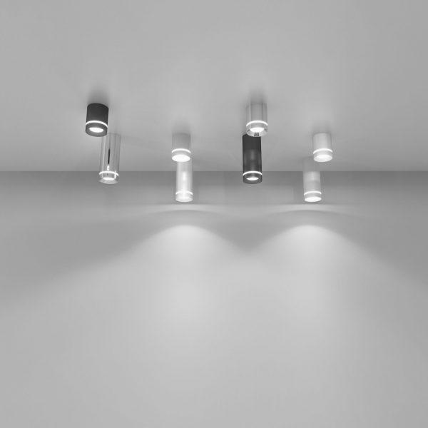 Накладной потолочный светодиодный светильник DLR022 12W 4200K хром матовый 4