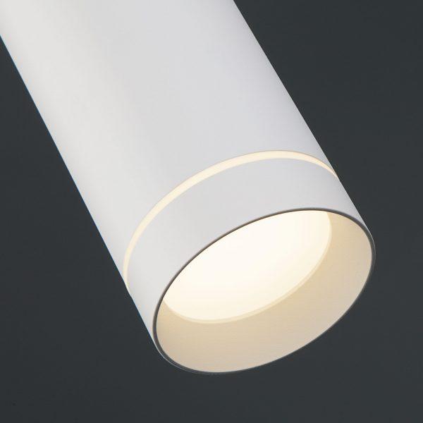 Накладной потолочный светодиодный светильник DLR023 12W 4200K белый матовый 5