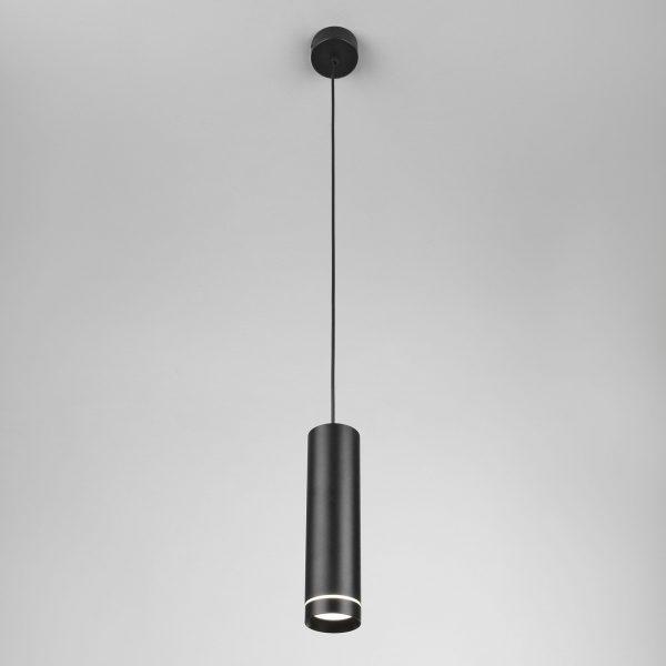 Подвесной светодиодный светильник DLR023 12W 4200K черный матовый 2