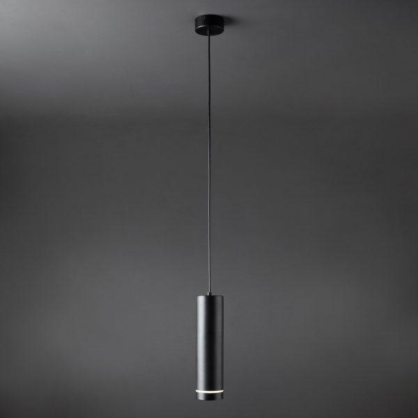 Подвесной светодиодный светильник DLR023 12W 4200K черный матовый 3