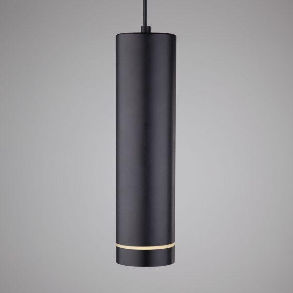 Подвесной светодиодный светильник DLR023 12W 4200K черный матовый 5