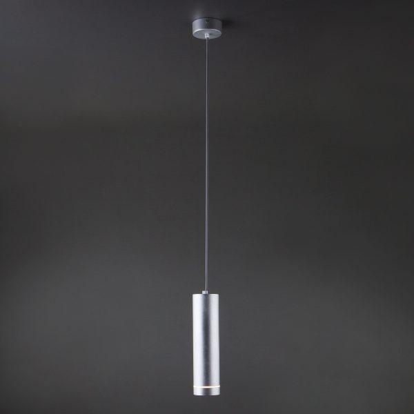 Подвесной светодиодный светильник DLR023 12W 4200K хром матовый 2