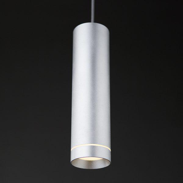 Подвесной светодиодный светильник DLR023 12W 4200K хром матовый 3