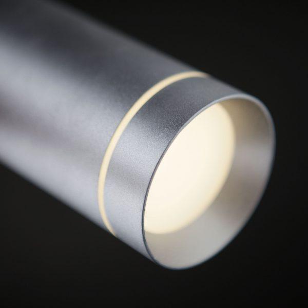 Подвесной светодиодный светильник DLR023 12W 4200K хром матовый 4