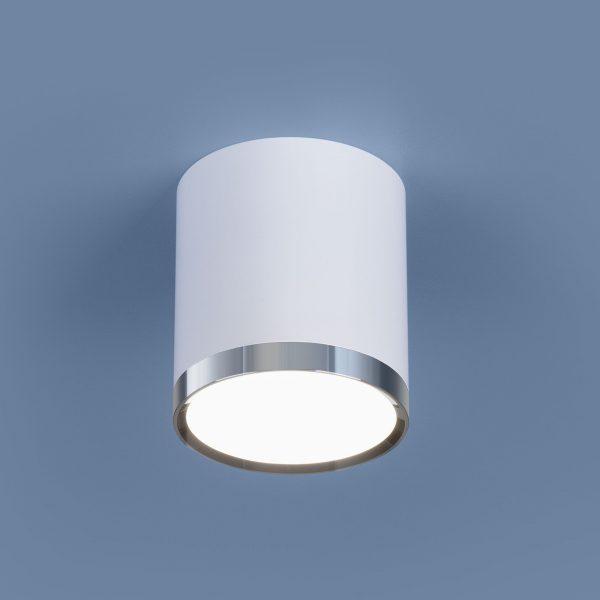 Накладной потолочный  светодиодный светильник DLR024 6W 4200K белый матовый