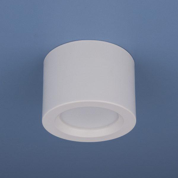 Накладной потолочный светодиодный светильник DLR026 6W 4200K белый матовый 1