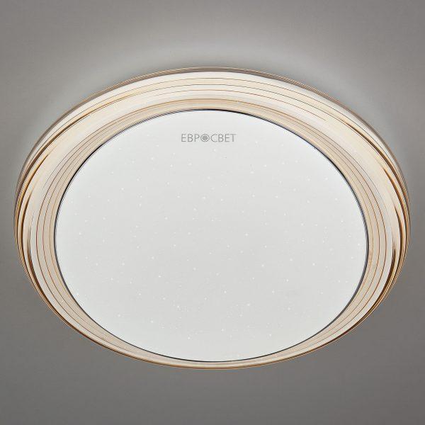 Накладной светодиодный светильник 40007/1 LED кофе 1