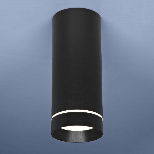 Накладной потолочный светодиодный светильник DLR022 12W 4200K черный матовый