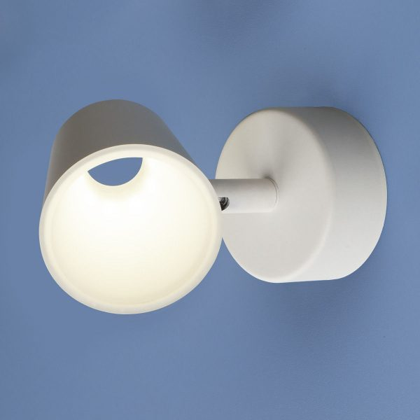 Настенно-потолочный светодиодный светильник DLR025 5W 4200K белый матовый 1