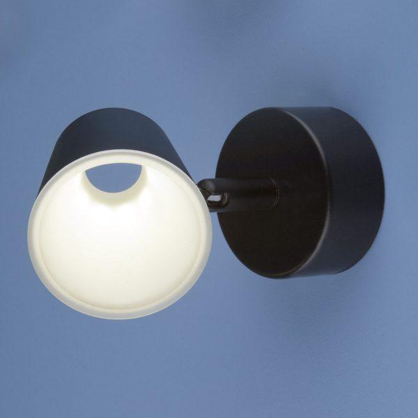 Настенно-потолочный светодиодный светильник DLR025 5W 4200K черный матовый 1
