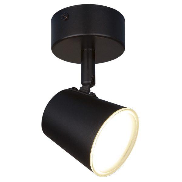 Настенно-потолочный светодиодный светильник DLR025 5W 4200K черный матовый 2
