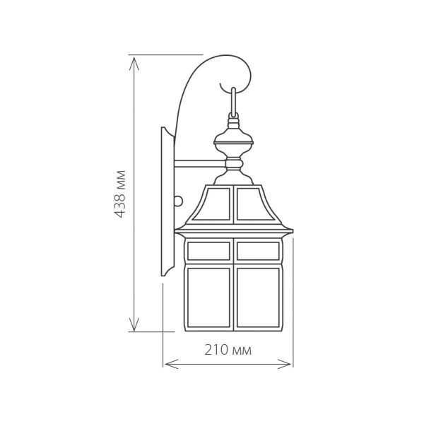 Уличный настенный светильник 1031 Savoie D медь 3