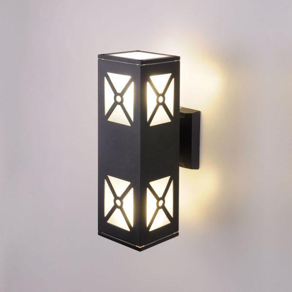 Уличный настенный светильник 1405 TECHNO черный 1405 TECHNO 1