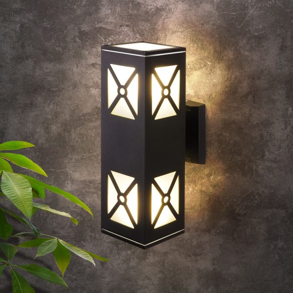 Уличный настенный светильник 1405 TECHNO черный 1405 TECHNO 2