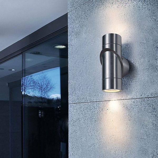 VORTEX хром уличный настенный светодиодный светильник 1553 TECHNO LED 1