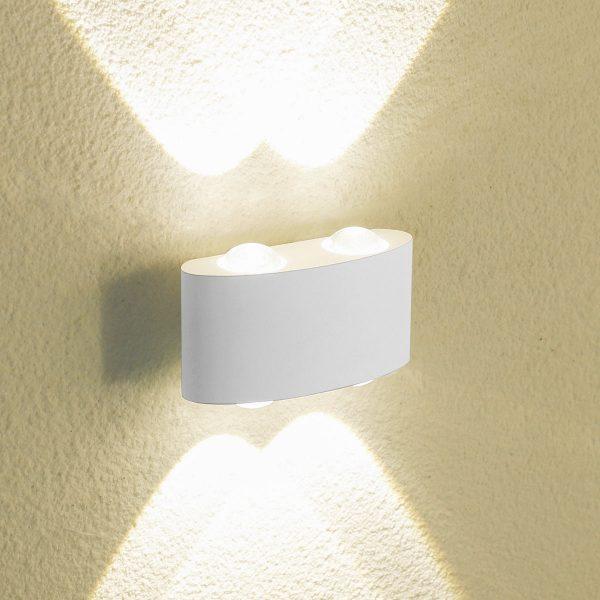 TWINKY DOUBLE белый уличный настенный светодиодный светильник 1555 TECHNO LED 1