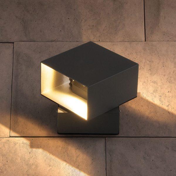 FOBOS графит уличный светодиодный светильник с поворотным механизмом 1607 TECHNO LED 3