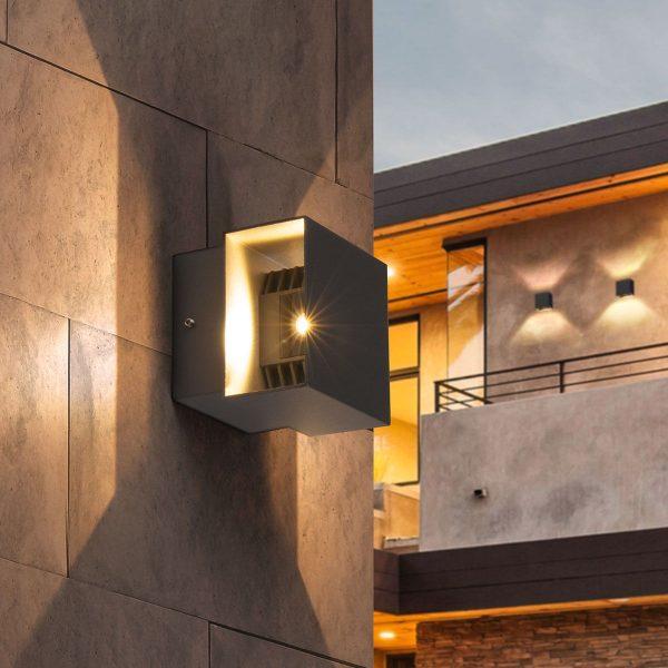 FOBOS графит уличный светодиодный светильник с поворотным механизмом 1607 TECHNO LED 2