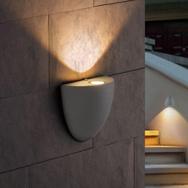 RONGO алмазный серый уличный настенный светодиодный светильник 1610 TECHNO LED 5