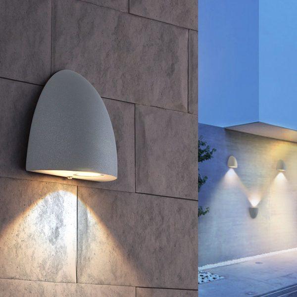RONGO алмазный серый уличный настенный светодиодный светильник 1610 TECHNO LED 4