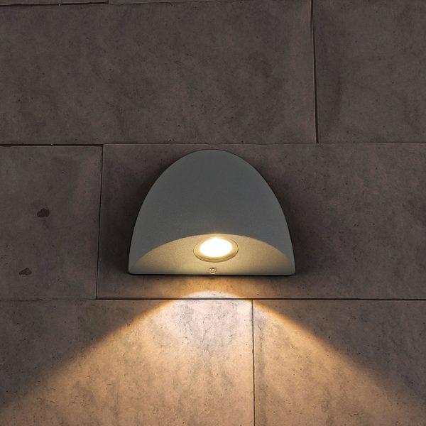 RONGO алмазный серый уличный настенный светодиодный светильник 1610 TECHNO LED 6
