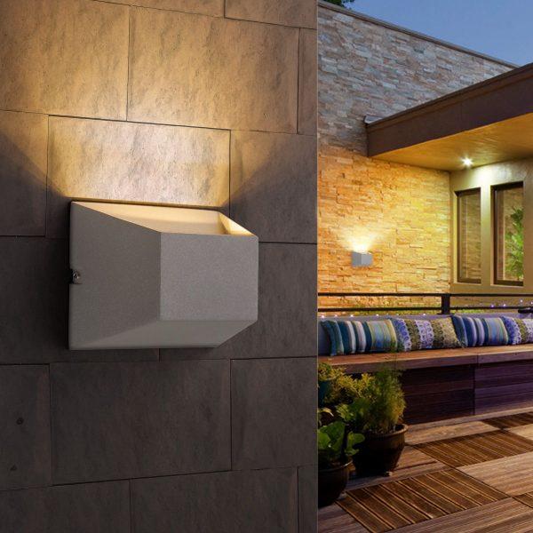 OFION алмазный серый уличный настенный светодиодный светильник 1614 TECHNO LED 1