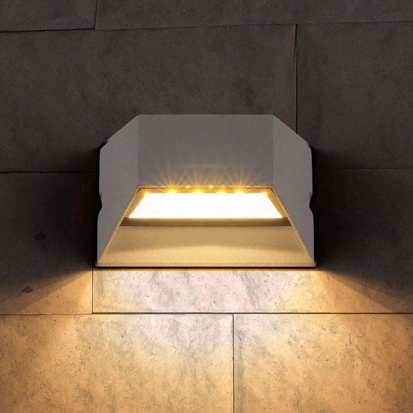 OFION алмазный серый уличный настенный светодиодный светильник 1614 TECHNO LED 2