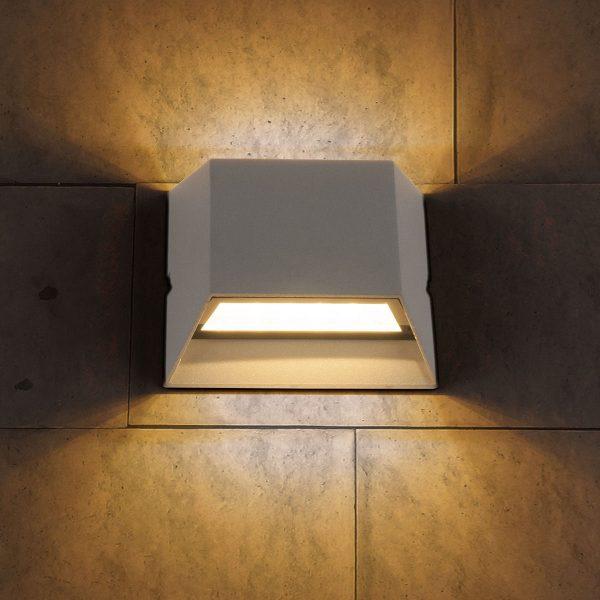 OFION DOUBLE алмазный серый уличный настенный светодиодный светильник 1615 TECHNO LED 7