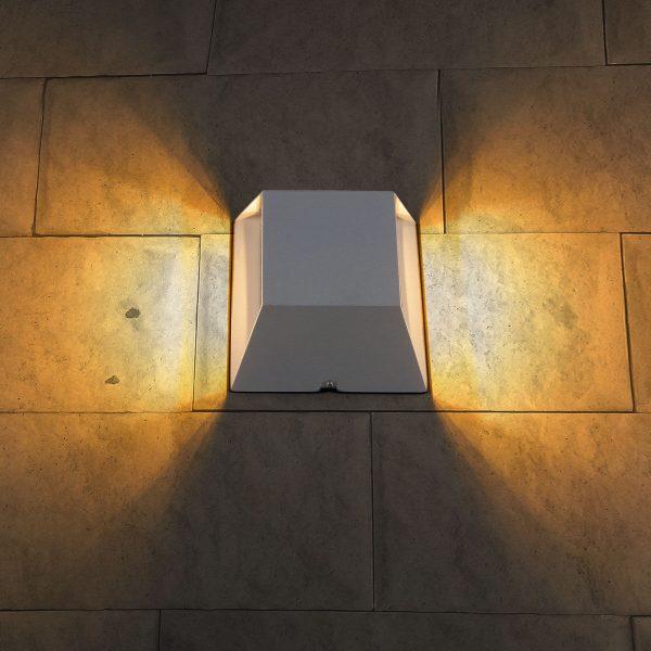OFION DOUBLE алмазный серый уличный настенный светодиодный светильник 1615 TECHNO LED 6
