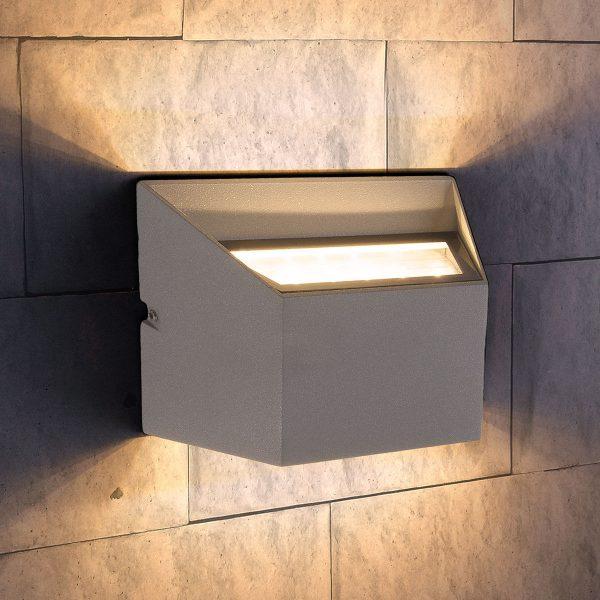 OFION DOUBLE алмазный серый уличный настенный светодиодный светильник 1615 TECHNO LED 5