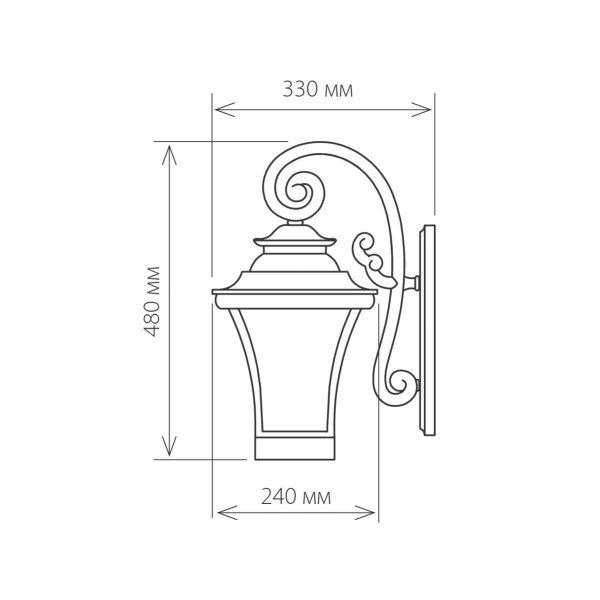 уличный настенный светильник Libra D венге  (арт. GLXT-1408D) 1