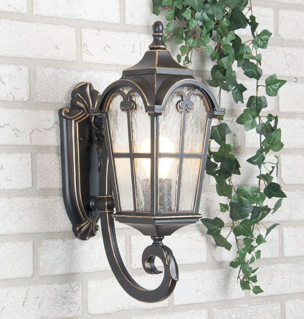 уличный настенный светильник Mira U черное золото