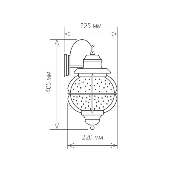 Regul D черная медь уличный настенный светильник GLXT-1475D 2