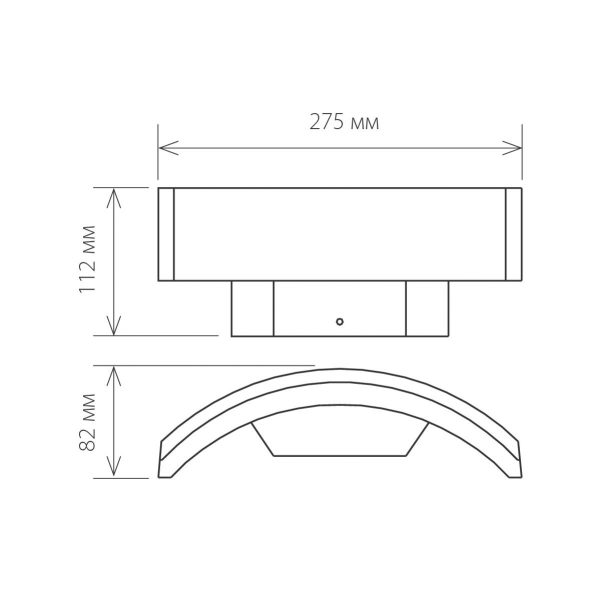 Asteria D уличный настенный светодиодный светильник 1671 TECHNO LED 2