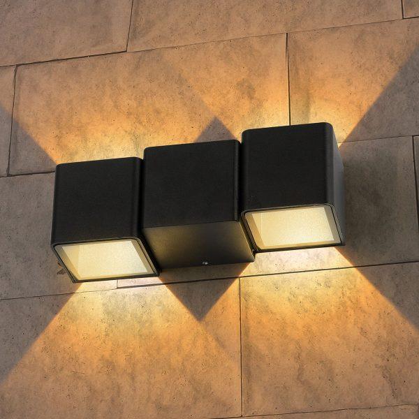 Triton черный уличный настенный светодиодный светильник 1694 TECHNO LED 1