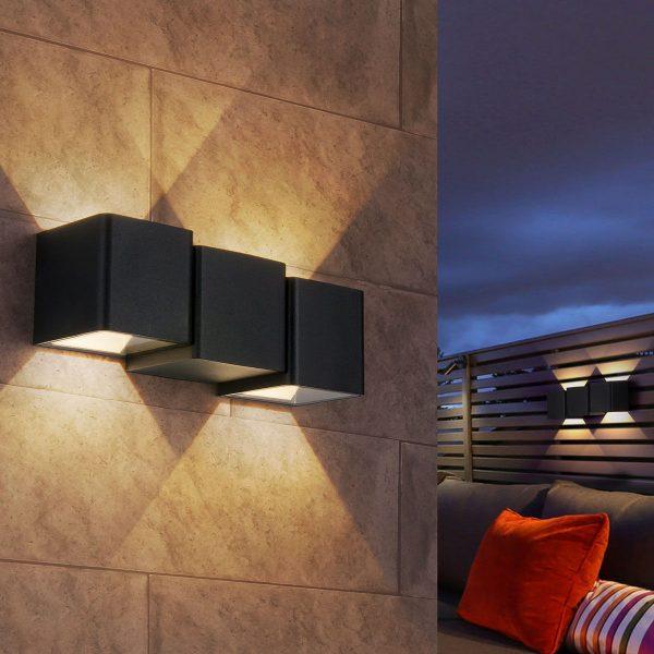 Triton черный уличный настенный светодиодный светильник 1694 TECHNO LED 3