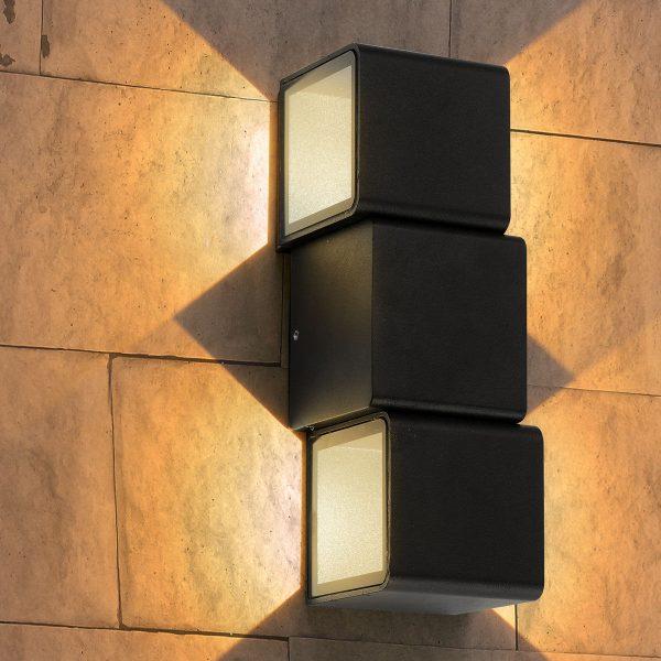 Triton черный уличный настенный светодиодный светильник 1694 TECHNO LED 2