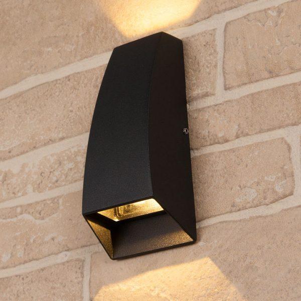 черный уличный настенный светодиодный светильник 1016 TECHNO