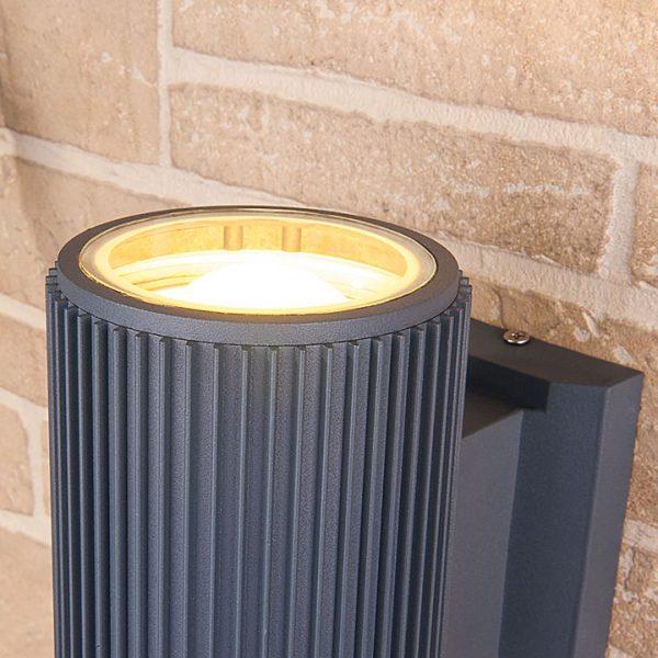 Светодиодный уличный настенный светильник 1403 TECHNO серый цвет 2
