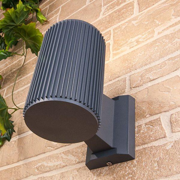 серый уличный настенный светильник 1404 TECHNO 2