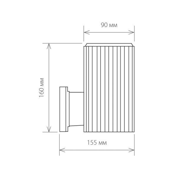 черный уличный настенный светильник 1404 TECHNO 1