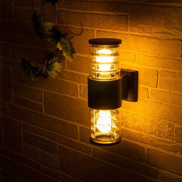 уличный настенный светильник 1407 TECHNO черный 1
