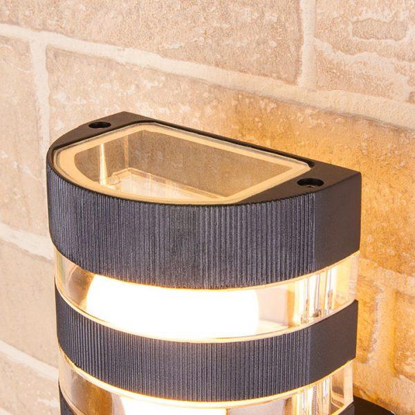уличный настенный светильник 1444 TECHNO черный 2