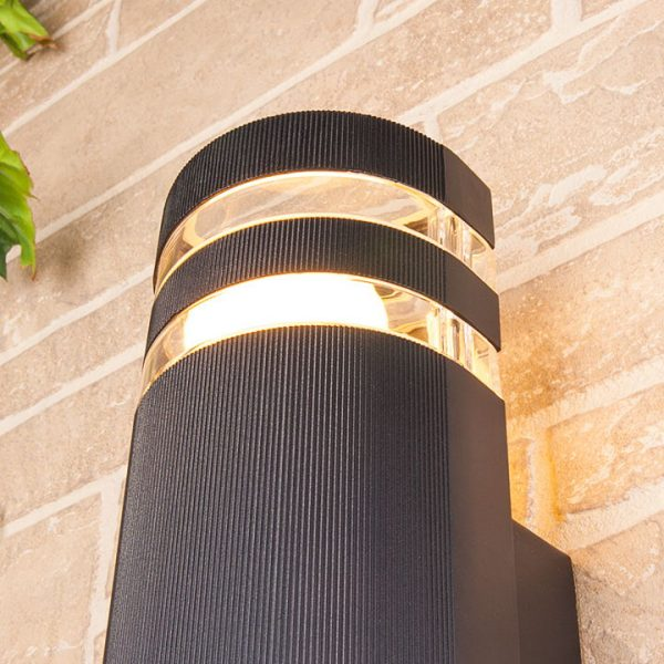 уличный настенный светильник 1444 TECHNO черный 1