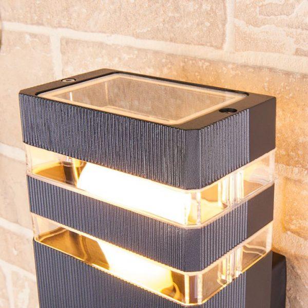 уличный настенный светильник 1449 TECHNO черный 1