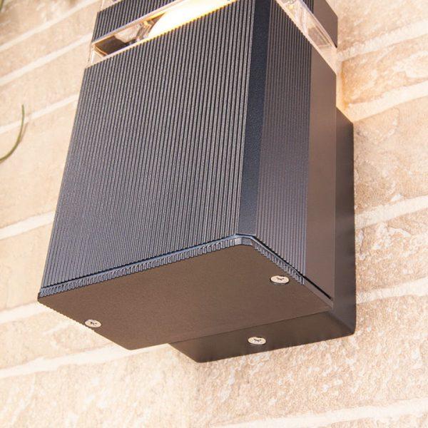 уличный настенный светильник 1450 TECHNO черный 3