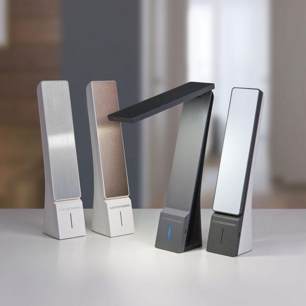 Настольный светодиодный светильник Desk белый/серебряный TL90450 2