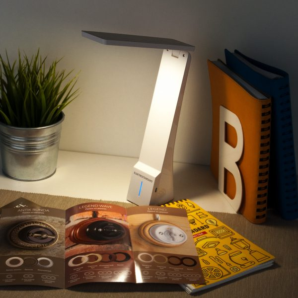 Настольный светодиодный светильник Desk белый/серебряный TL90450 8