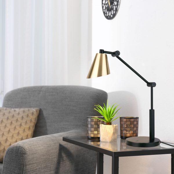 Настольный светодиодный светильник Fabula сатинированное золото TL70100 1