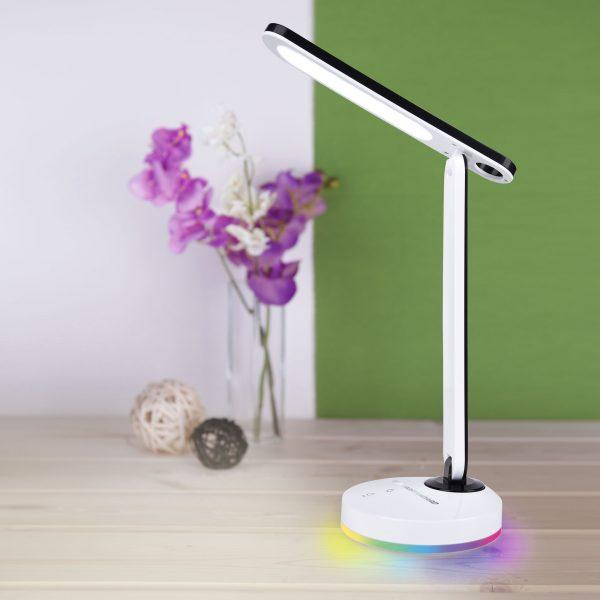 Настольный светодиодный светильник Flip белый/черный TL90480 1